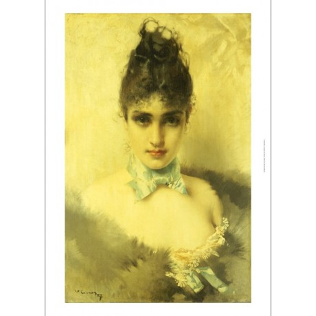 "VITTORIO CORCOS ""An Elegant Beauty"" PRINT ON CANVAS various SIZES available, NEW"