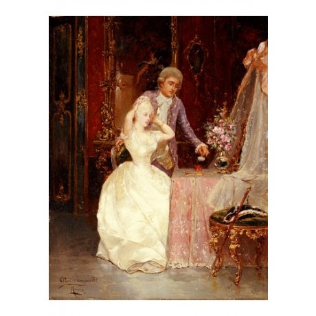 "ETTORE SIMONETTI ""In Boudoir"" Art Print choose your SIZE, from 55cm up"