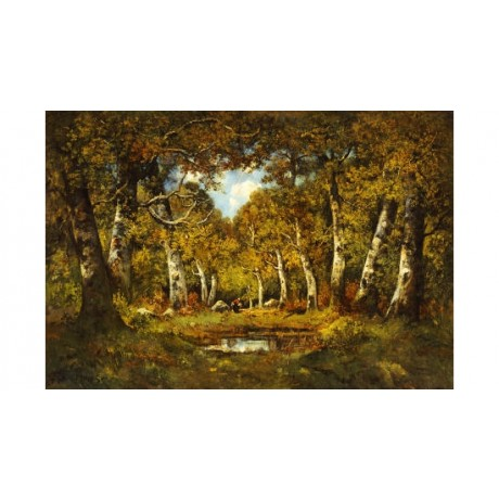 CAMILLE MAGNUS Forest landscape print ON CANVAS choose SIZE, from 55cm up, NEW