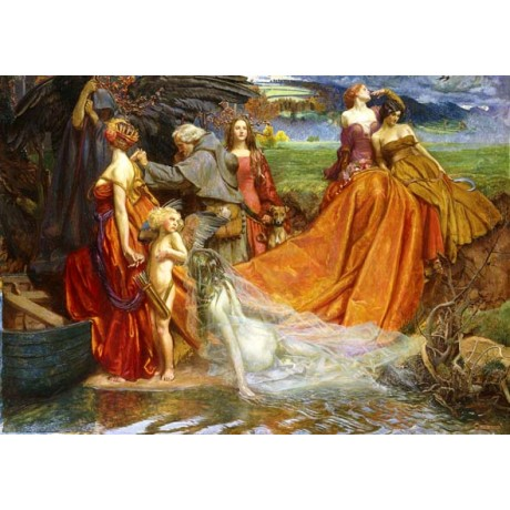 JOHN BYAM LISTON SHAW Now is PILGRIM Year Fair Autumn's Charge departure giclee