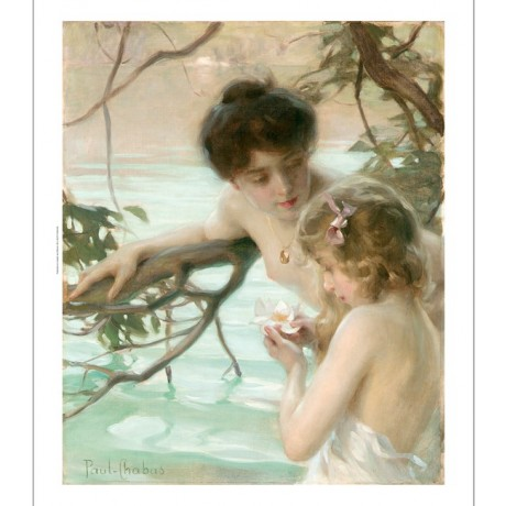 "PAUL-EMILE CHABAS ""Mother and Child Bathing"" women pool various SIZES, BRAND NEW"