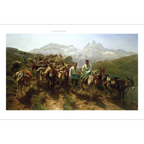 "ROSA BONHEUR ""Spanish Muleteers Crossing The Pyrenees"" various SIZES, BRAND NEW"