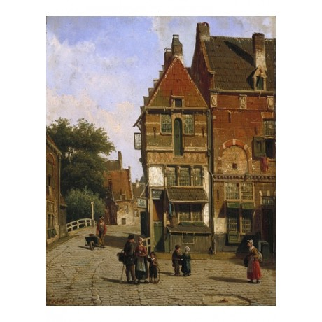 "WILLEM KOEKKOEK ""A Dutch Street Scene"" BROWSE our shop! various SIZES, BRAND NEW"