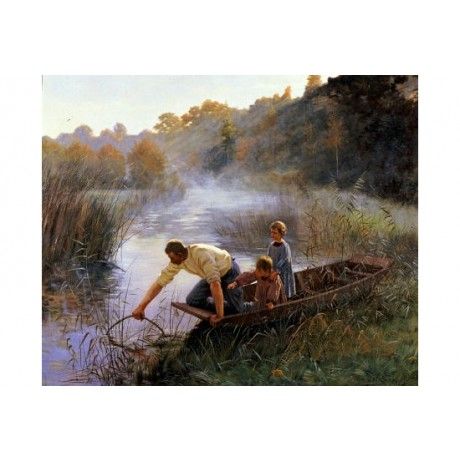 "PIERRE ANDRE BROUILLET ""Fisherman's Family"" PRINT choose SIZE, from 55cm up, NEW"