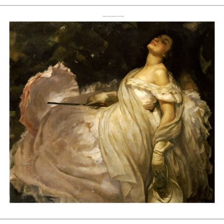 "MIGUEL MUNTANET ""Lady Reclining In Shade"" CANVAS ART ! various SIZES, BRAND NEW"