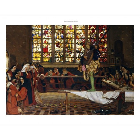 "FRANK COWPER ""Devil among the Nuns"" SHOCKED outrage stained glass CANVAS PRINT"