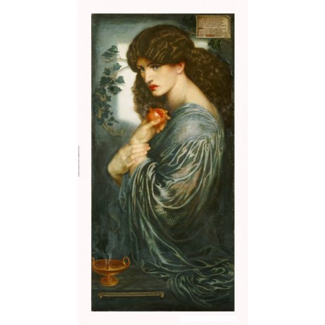 "DANTE GABRIEL ROSSETTI ""Proserpine"" portrait PRINT choose your SIZE, 55cm up"