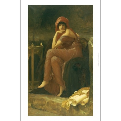 "FREDERIC, LORD LEIGHTON ""Sybil"" portait ON CANVAS choose SIZE, from 55cm up, NEW"