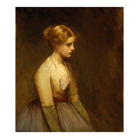 HENNER Contemplation Fair Haired Beauty TEENAGER despondent night CANVAS PRINT
