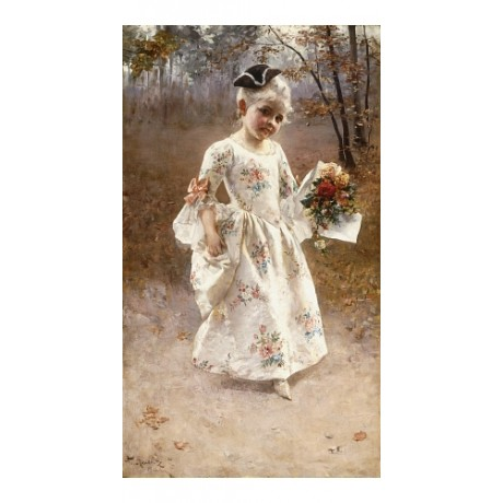"ALBERT RAUDNITZ ""Little Flower Girl"" POSY bouquet shy tricorn path shoe CANVAS"