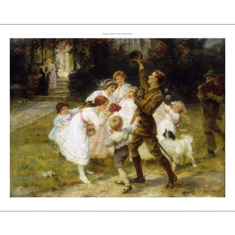 "FREDERICK MORGAN ""Hero Of The Hour"" HOMECOMING soldier joy family CANVAS PRINT"