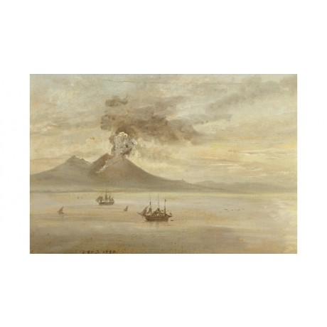 Johann Christian Clausen Dahl Vesuvius Erupting PRINT various SIZES, BRAND NEW