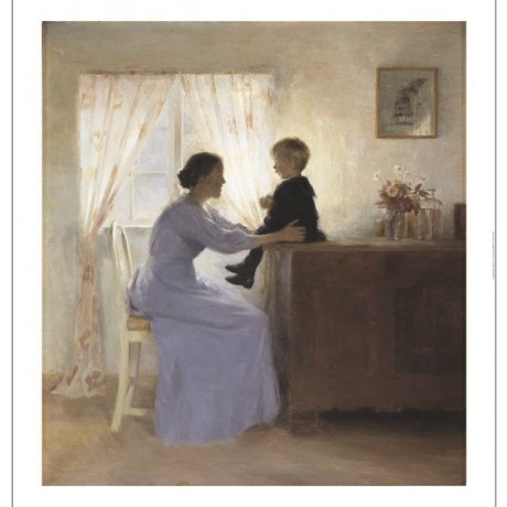 "PETER ILSTED ""A Mother And Child In An Interior"" CANVAS various SIZES, BRAND NEW"