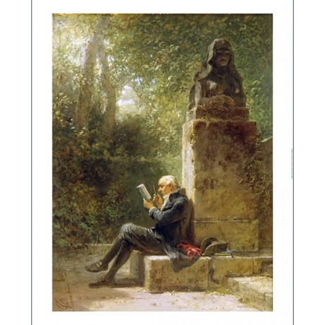 "CARL SPITZWEG ""Philosopher"" Male portrait ON CANVAS various SIZES available, NEW"