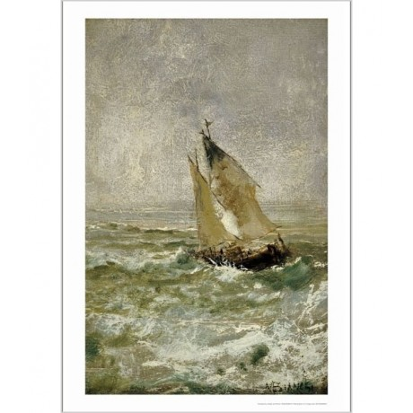 "MOSE BIANCHI ""Sailing Boat In A Choppy Sea"" CANVAS ART various SIZES, BRAND NEW"