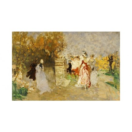 "MOSE BIANCHI ""Elegant Figures In A Park"" ON CANVAS choose SIZE, from 55cm up"