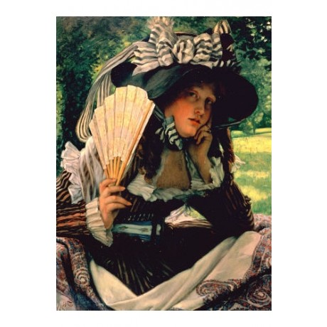 "JAMES JACQUES JOSEPH TISSOT ""Girl With A Fan"" Art Print various SIZES available"