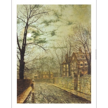 "JOHN ATKINSON GRIMSHAW ""A Moonlit Road"" ON CANVAS choose SIZE, from 55cm up, NEW"