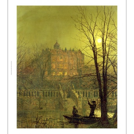 "JOHN ATKINSON GRIMSHAW ""Under Moonbeams"" ON CANVAS choose SIZE, from 55cm up"