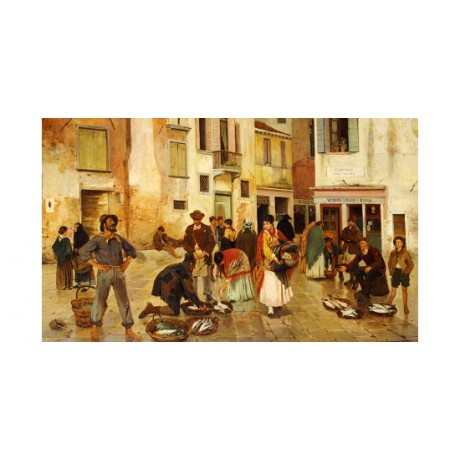 "FRANZ LEO RUBEN ""Campiello Delle Mosche, Venice"" Print various SIZES available"