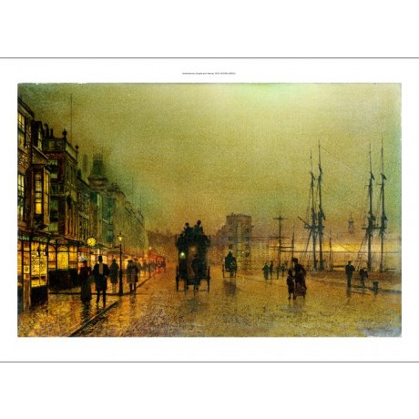 "JOHN ATKINSON GRIMSHAW ""Glasgow"" harbour scottish print various SIZES available"