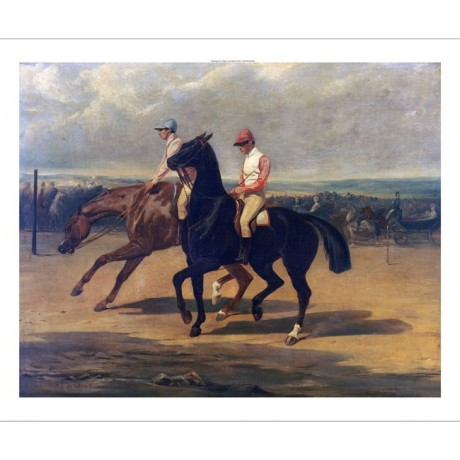 ALFRED DE DREUX french horseracing print ON CANVAS choose SIZE, from 55cm up