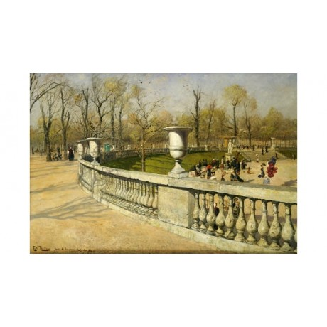 "FRITS THAULOW ""Jardin Du Luxembourg"" norwegian print various SIZES available"