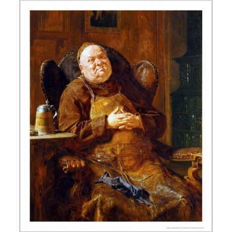 "EDUARD VON GRUTZNER ""A Quiet Smoke"" portrait ON CANVAS various SIZES, BRAND NEW"