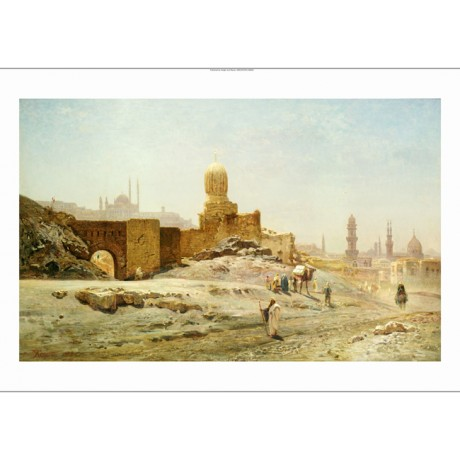 "ERNST KORNER ""View Of Cairo"" egypt landscape ON CANVAS various SIZES, BRAND NEW"