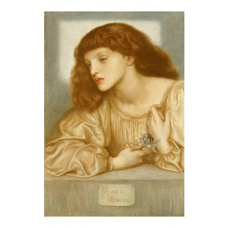 "DANTE GABRIEL ROSSETTI ""May Morris"" ON CANVAS print various SIZES available, NEW"