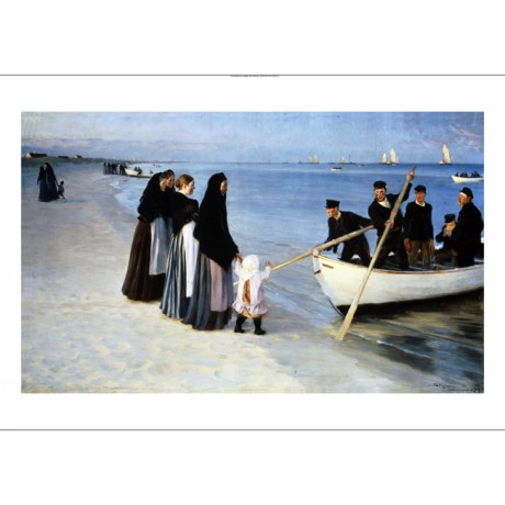 "PEDER SEVERIN KROYER ""Departure Of Fishing Fleet"" NEW! various SIZES, BRAND NEW"