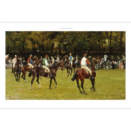 In Paddock art italian horseracing GICLEE print choose SIZE, from 55cm up, NEW