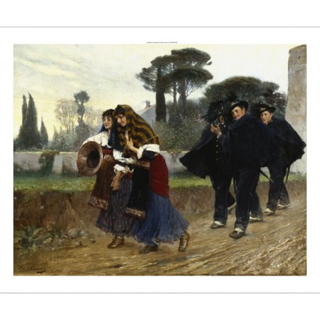 ANGELO COURTEN In Libera Uscita ROMANCE boys pursuing girls NEW CANVAS PRINT!!