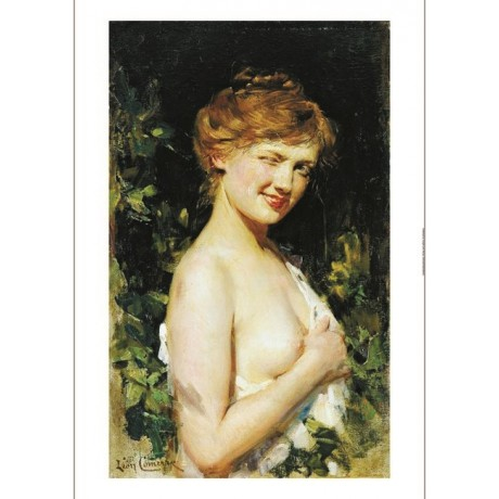 "LEON FRANCOIS COMERRE ""Le Clin D'oeil"" Nude ON CANVAS various SIZES, BRAND NEW"