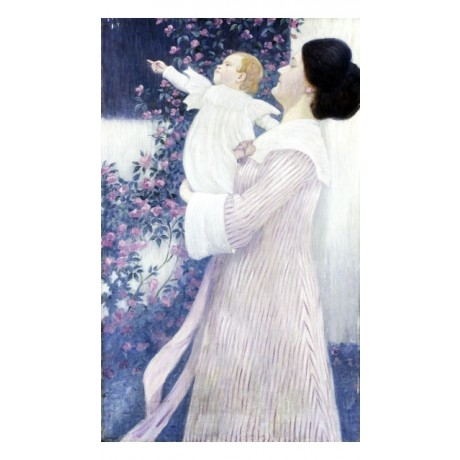 "WILHELM LIST ""Mother and Child"" ENCHANTED motherhood baby NEW CANVAS PRINT!!!"