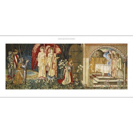 "MARVELLOUS CANVAS PRINT ""The Achievement of the Holy Grail"" EDWARD BURNE-JONES"