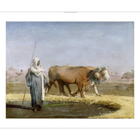 "JEAN LEON GEROME ""Treading Out Wheat In Egypt"" CANVAS! various SIZES, BRAND NEW"