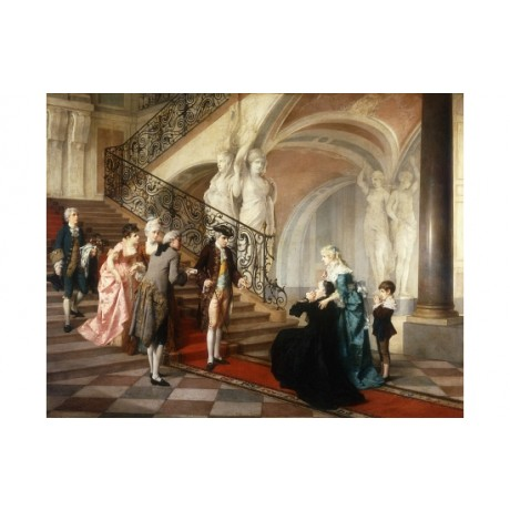 "ERDMANN ""The Appeal"" PLEADING stately home vaulted ceiling etiquette boy CANVAS"