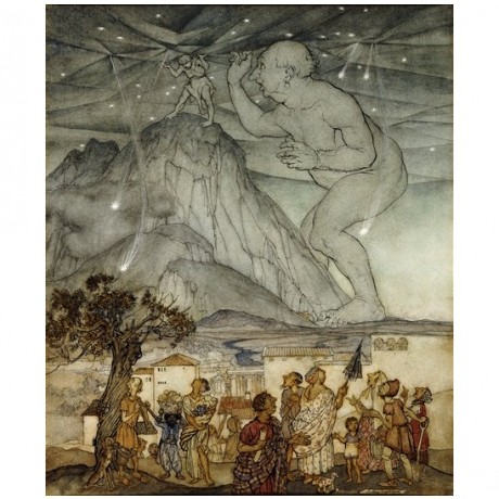 "Arthur Rackham ""Hercules Supporting the Sky instead of Atlas"" shocked villagers"