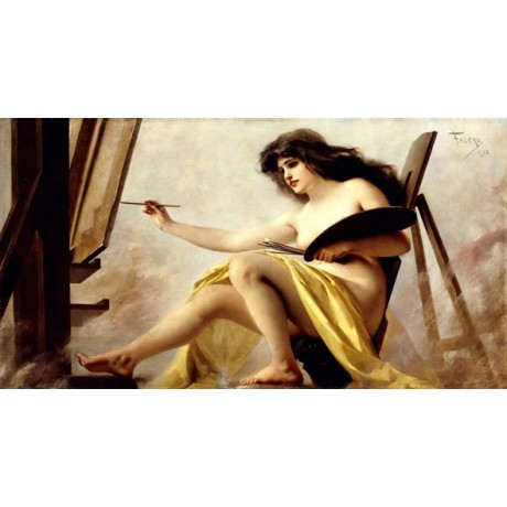 LUIS FALERO Allegory of Painting nude woman ANVIL painting artist various SIZES