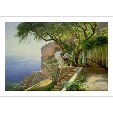 "CARL FREDERICK AAGAARD ""Amalfi"" coastal ON CANVAS choose SIZE, from 55cm up, NEW"