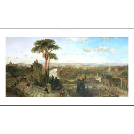 DAVID ROBERTS Landscape Convent Of San Onofrio choose SIZE, from 55cm up, NEW