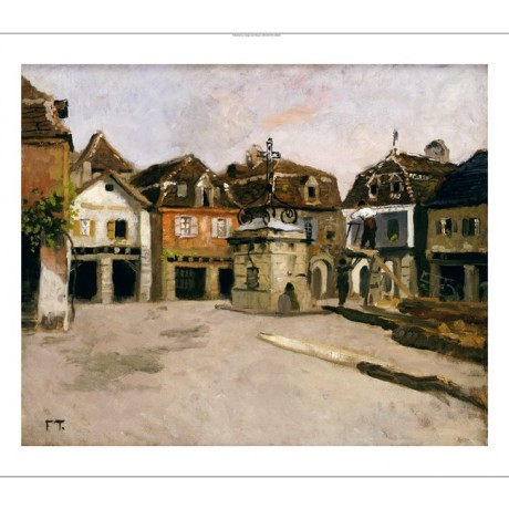 "FRITS THAULOW ""Town Square"" norway GICLEE ON CANVAS various SIZES available, NEW"