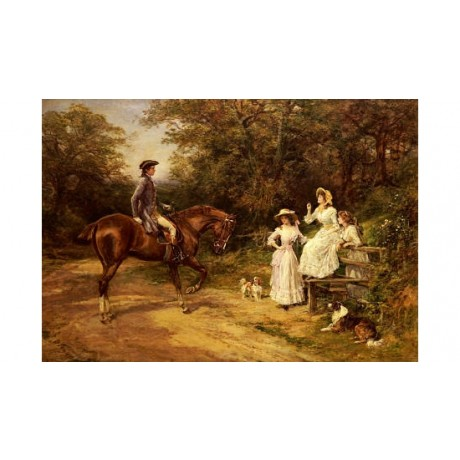 "HEYWOOD HARDY ""Meeting By Stile"" love print ON CANVAS various SIZES, BRAND NEW"