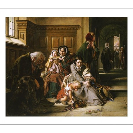 "ABRAHAM SOLOMON ""Waiting For Verdict"" law court print various SIZES, BRAND NEW"