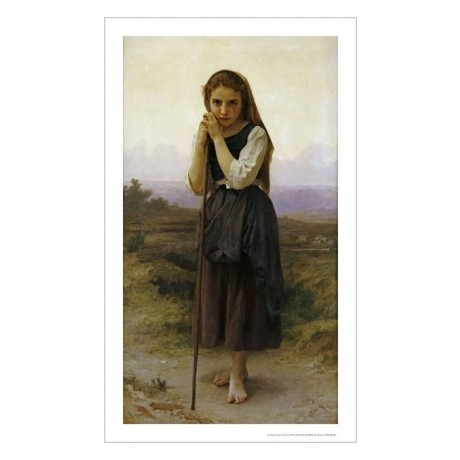 "WILLIAM ADOLPHE BOUGUEREAU ""Petite Bergere"" print choose SIZE, from 55cm up, NEW"