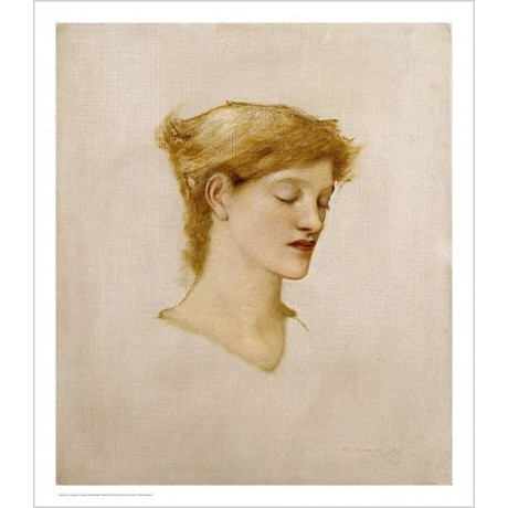 "SIR EDWARD COLEY BURNE-JONES ""Head Of A Woman"" Print various SIZES available"