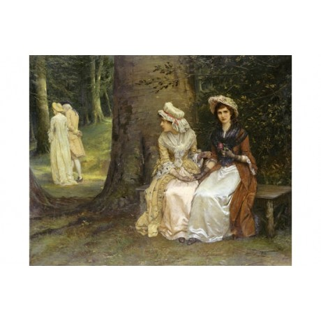 "WILLIAM OLIVER ""Unrequited Love"" print ON CANVAS choose SIZE, from 55cm up, NEW"