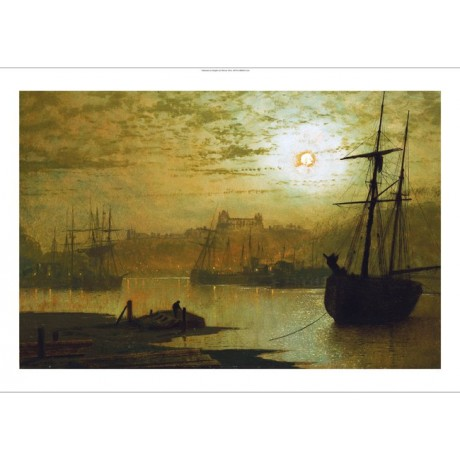 "JOHN ATKINSON GRIMSHAW ""On The Esk, Whitby"" ON CANVAS! various SIZES, BRAND NEW"