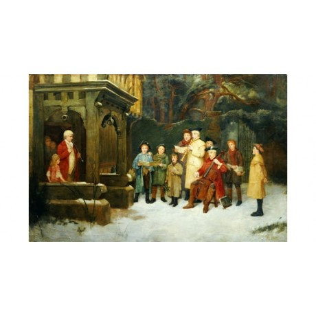 "WILLIAM M. SPITTLE ""Carol Singers"" music christmas choose SIZE, from 55cm up"
